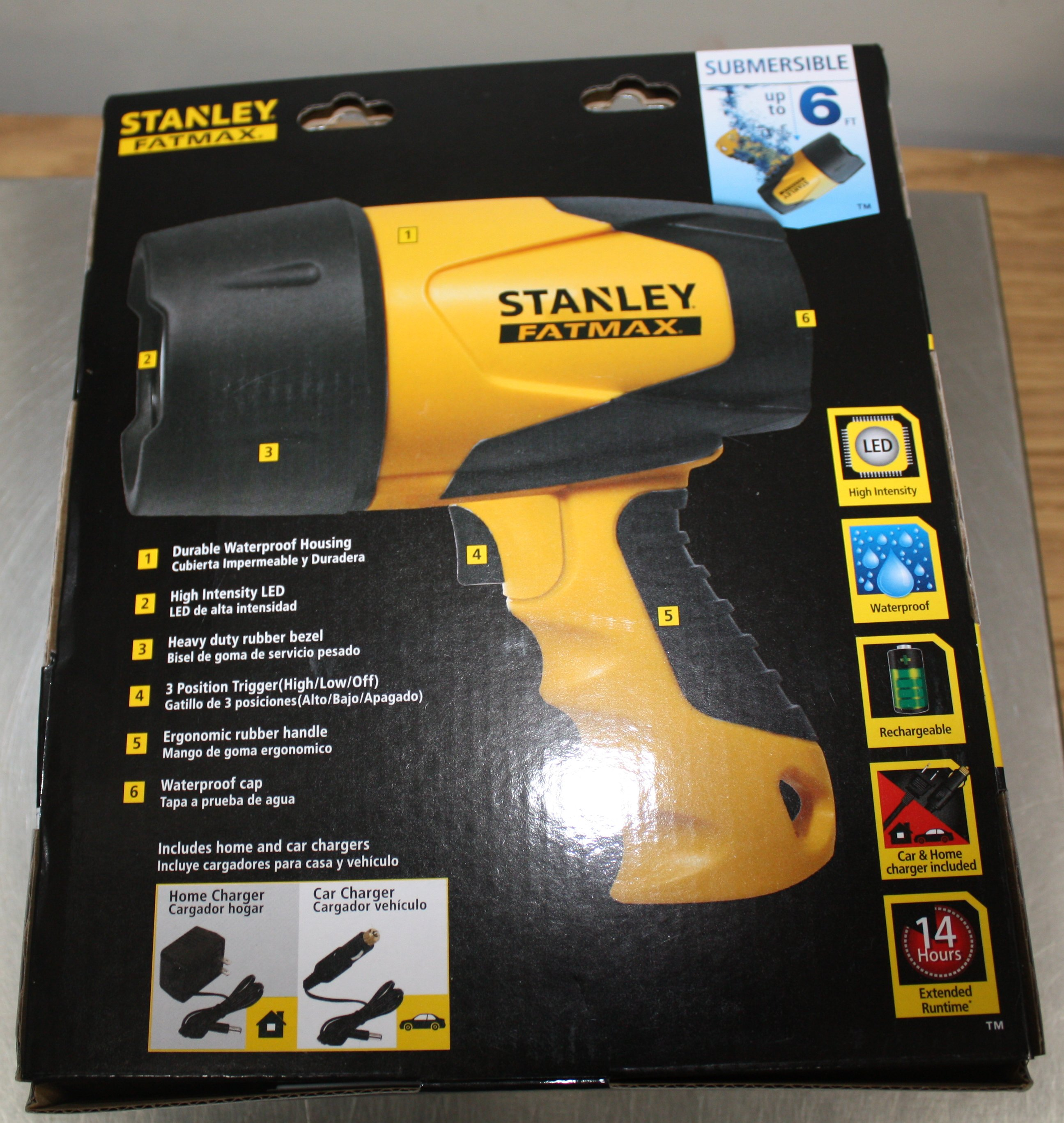 Stanley 5 Watt Led Rechargeable Spotlight: Stanley Dip Drop Dunk It Waterproof LED Rechargeable