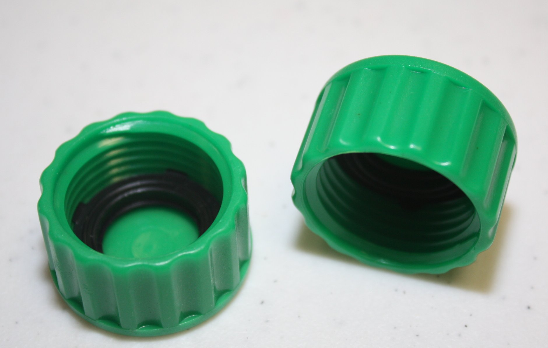 New plastic garden hose end caps terminators