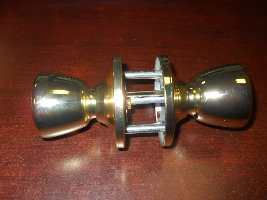 3 set new gold color entry door knob locks or deadbolt - Exterior door knob with deadbolt ...